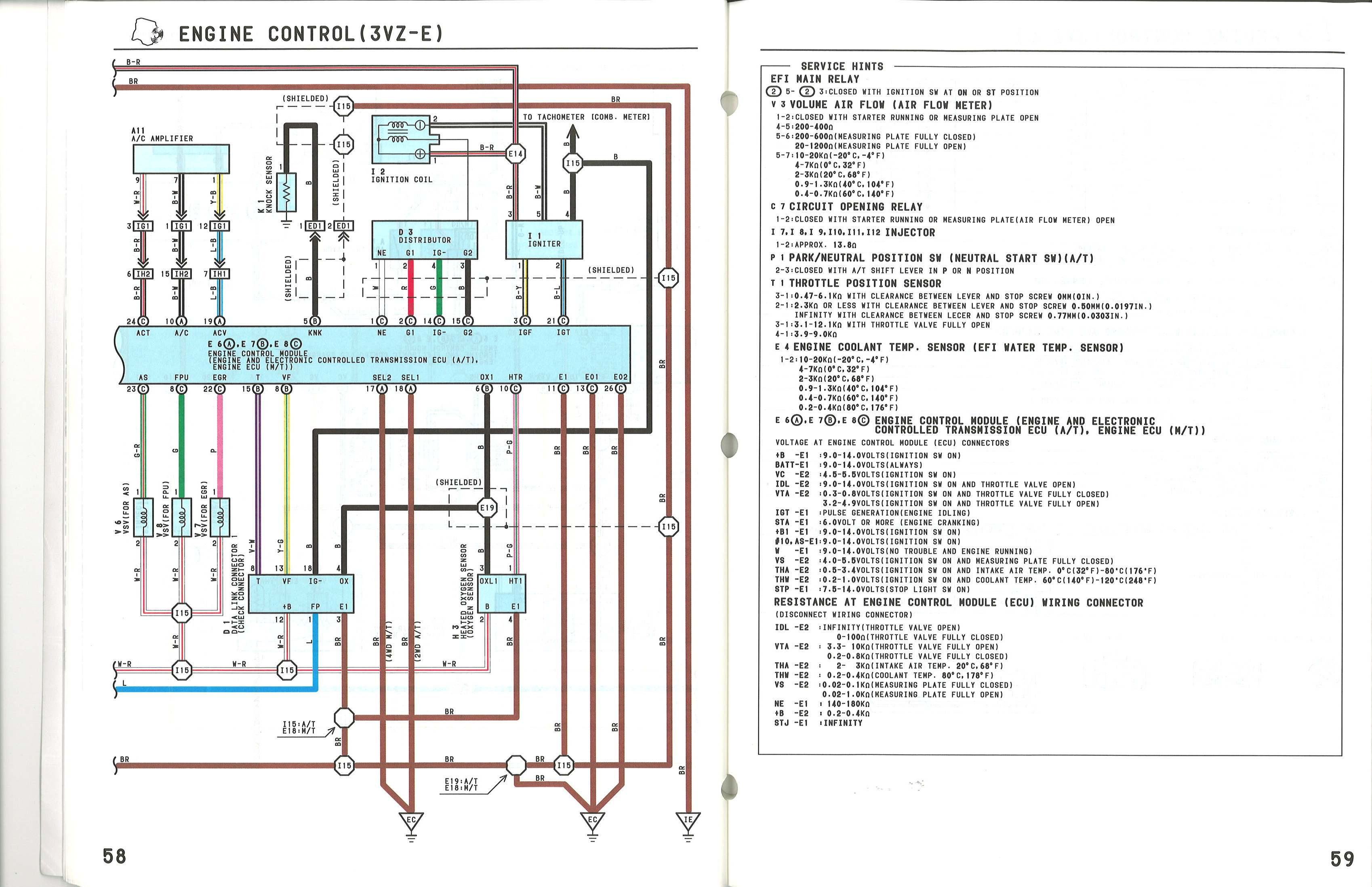 Engine_Control_3vze_3 knock sensor wiring diagram ecu wiring diagram \u2022 free wiring 1992 toyota pickup wiring diagram at eliteediting.co
